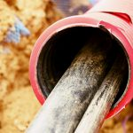 High pressure water lines feeing into a large pipe